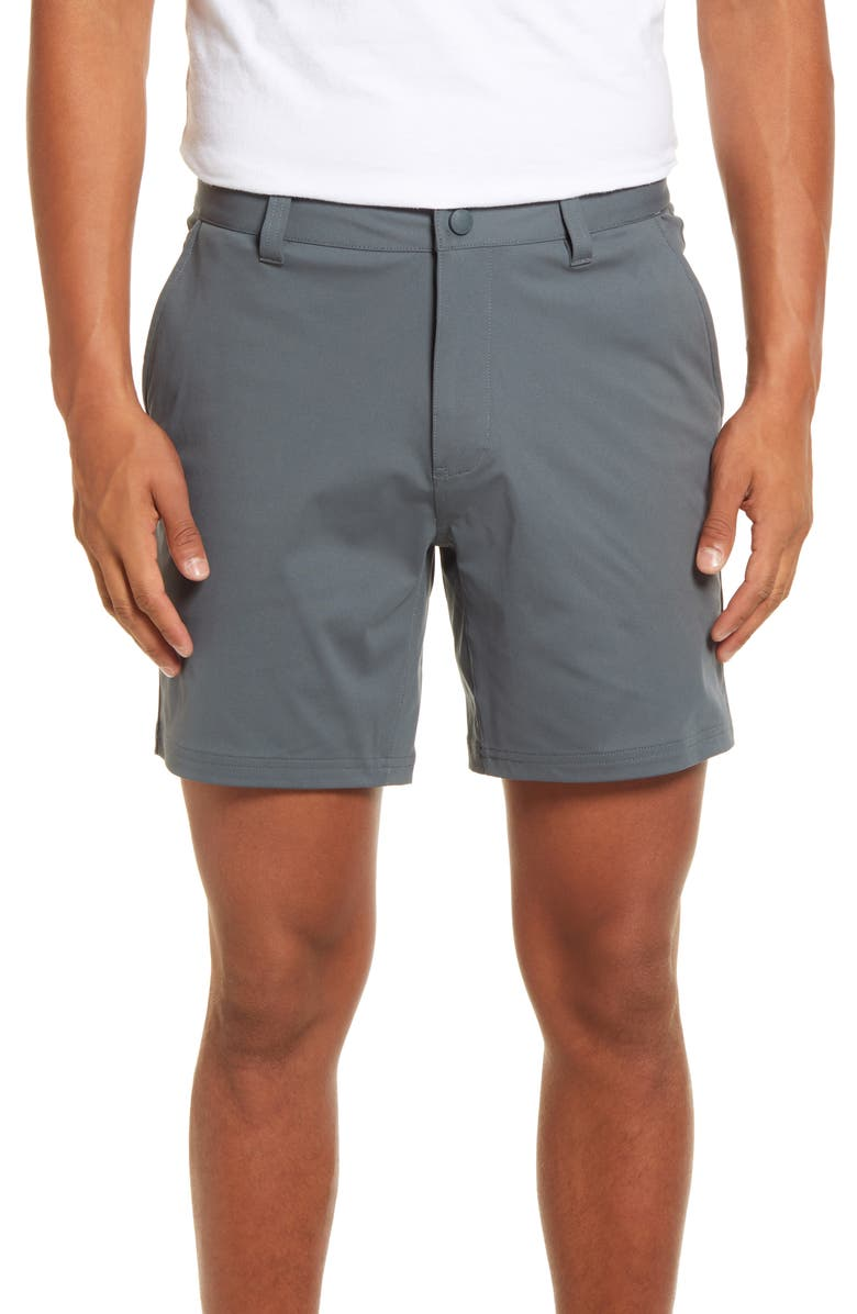 "RHONE 7"" Commuter Shorts, Main, color, NEPHRITE"
