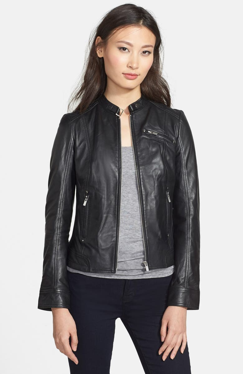LAMARQUE Quilted Leather Jacket, Main, color, 001
