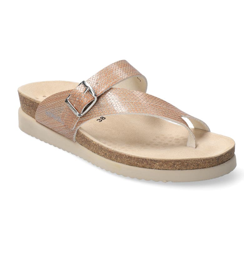 MEPHISTO 'Helen' Sandal, Main, color, OLD PINK REPTILE PRINT LEATHER