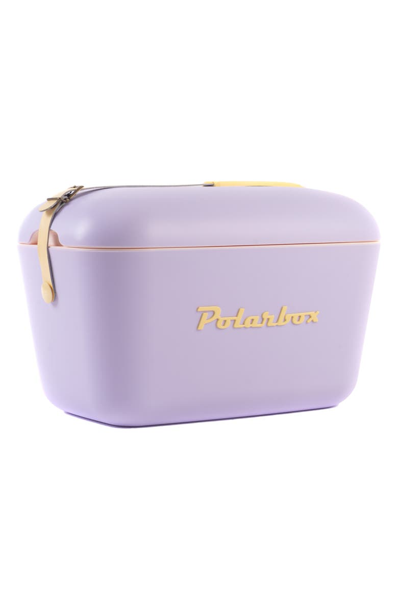 POLARBOX Pop Model Portable Cooler - Lilac, Main, color, LILAC - YELLOW W LEATHER STRAP