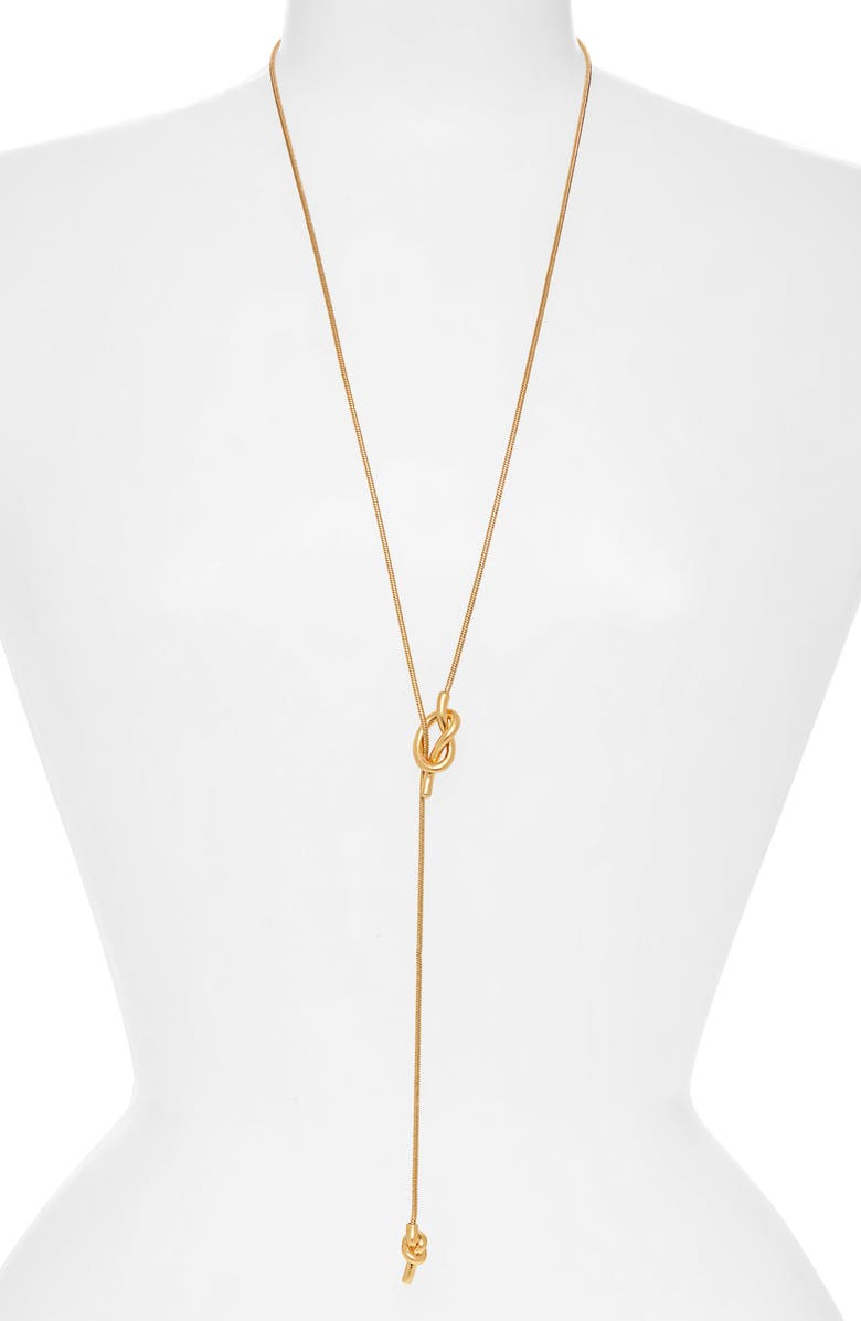 MADEWELL 'Knotshine' Necklace, Main, color, VINTAGE GOLD