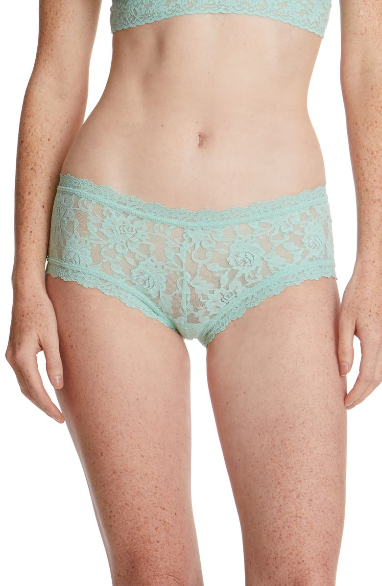HANKY PANKY Signature Lace Boyshorts, Main, color, MINT SPRIG GREEN