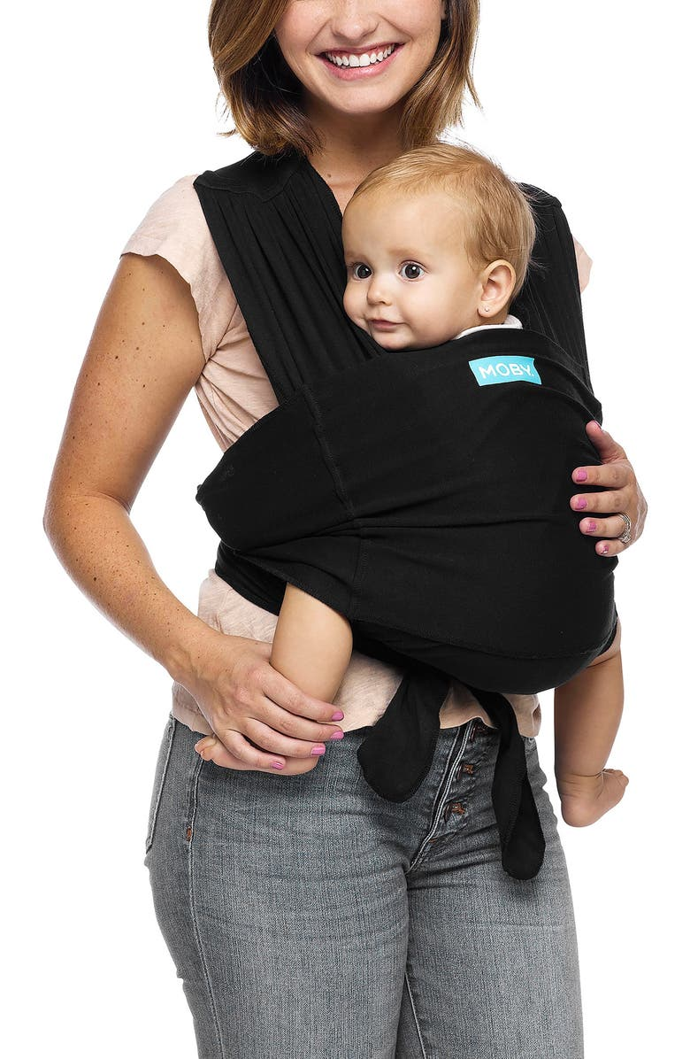 MOBY Fit Hybrid Baby Carrier, Main, color, BLACK