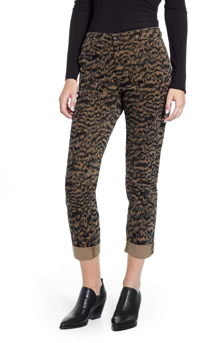 AG Caden Print Ankle Twill Trousers, Main, color, 318