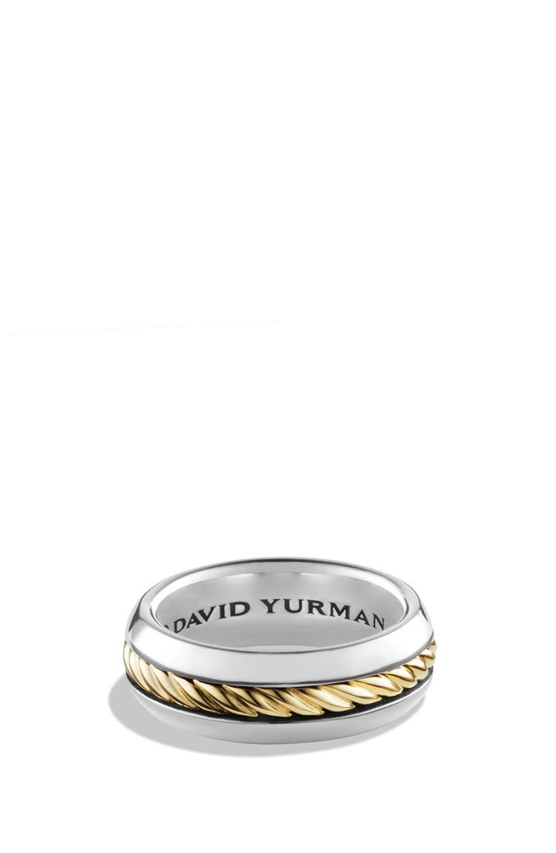 DAVID YURMAN 'Cable Classics' Band Ring with 18K Gold, Main, color, 040