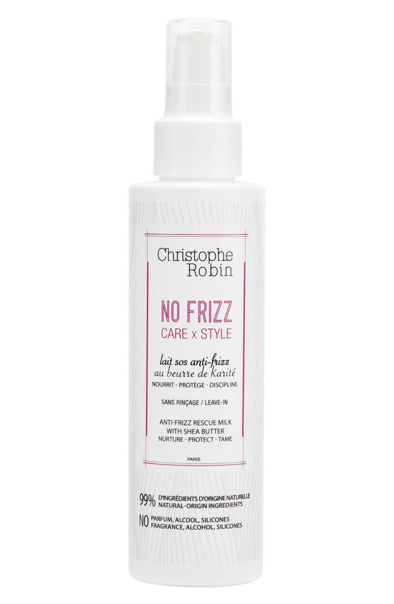 CHRISTOPHE ROBIN Anti-Frizz Rescue Milk with Shea Butter, Main, color, 000