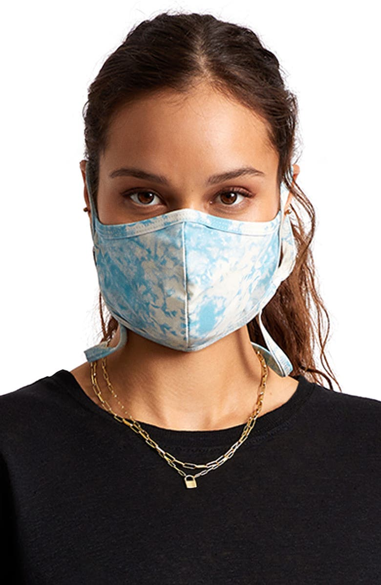 BRIXTON Everything Reversible Adult Face Mask, Main, color, BLUSW