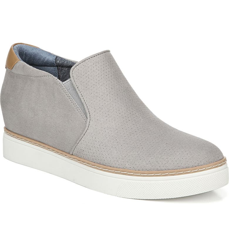 DR. SCHOLL'S If Only Wedge Bootie, Main, color, SOFT GREY FABRIC