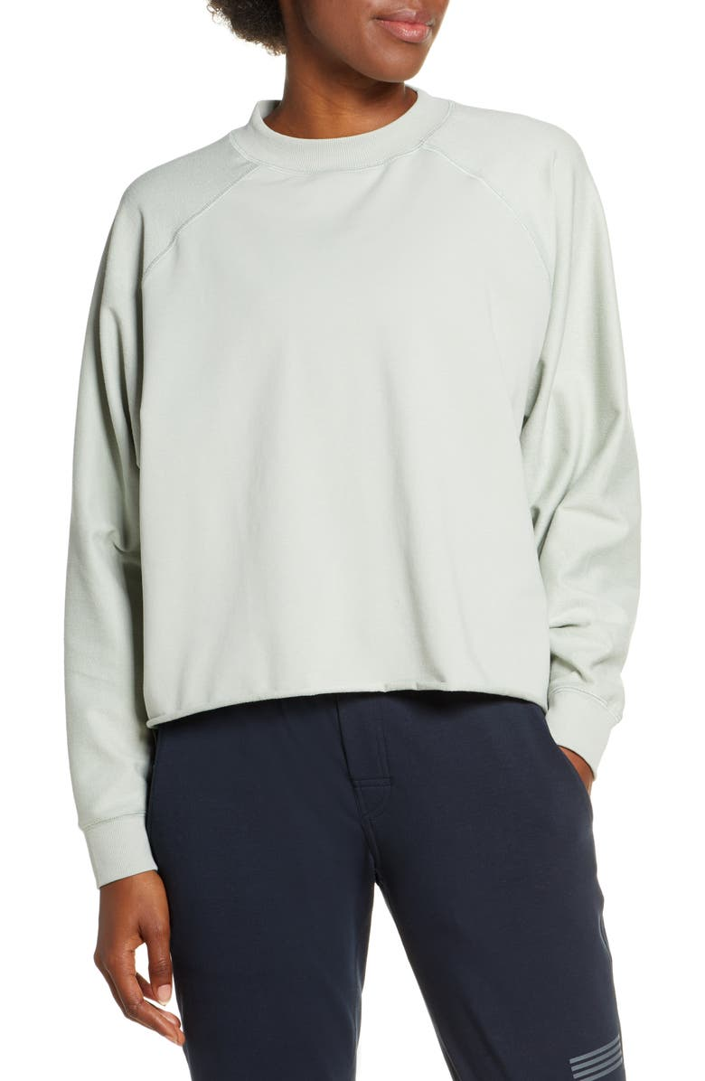 VUORI Faye Rolled Hem Sweatshirt, Main, color, 300