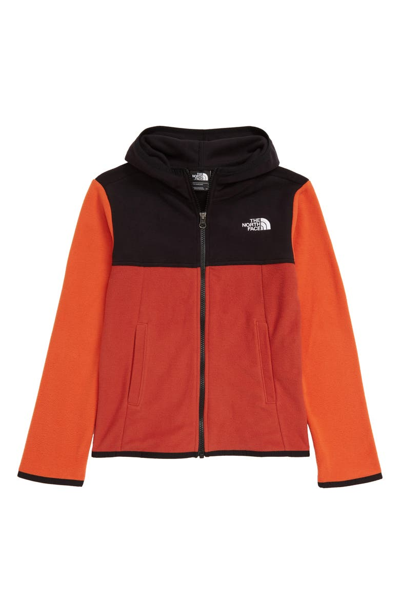 THE NORTH FACE Kids' Glacier Full Zip Hoodie, Main, color, KETCHUP RED