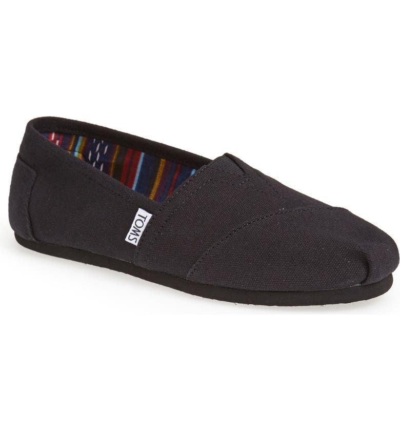 TOMS Classic Canvas Slip-On, Main, color, 002
