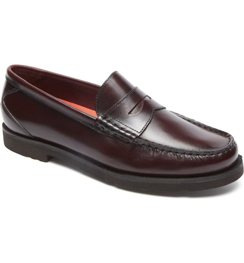 ROCKPORT 'Modern Prep' Penny Loafer, Main, color, BURGUNDY