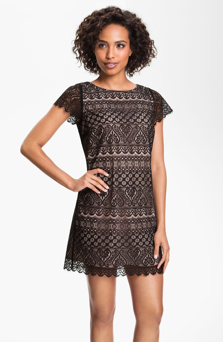 FELICITY & COCO Lace Shift Dress, Main, color, 001