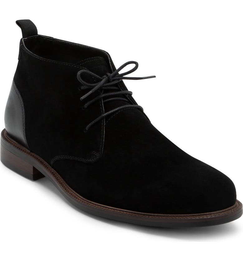 BLONDO Konor Waterproof Chukka Boot, Main, color, BLACK SUEDE