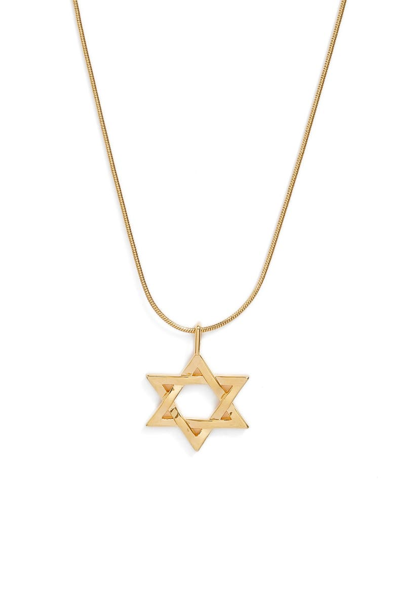 NORDSTROM Snake Chain Pendant Necklace, Main, color, GOLD STAR OF DAVID