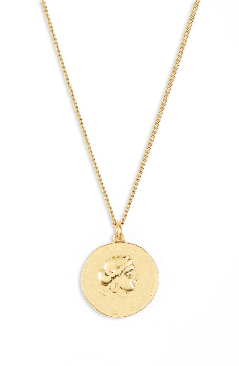 MADEWELL Ancient Coin Necklace, Main, color, VINTAGE GOLD