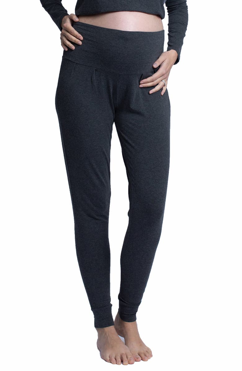 ANGEL MATERNITY Tapered Knit Maternity Pants, Main, color, 020