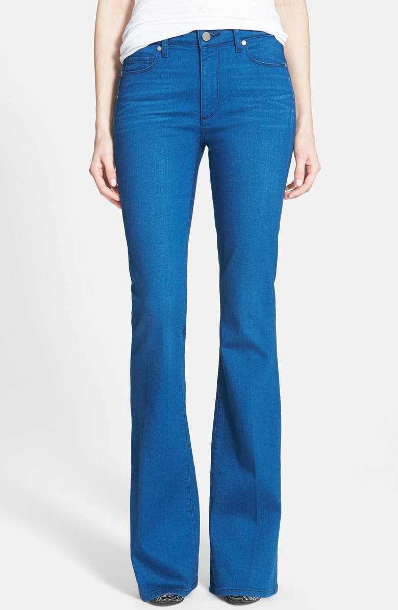 PAIGE Denim 'Bell Canyon' High Rise Flare Jeans, Main, color, 400