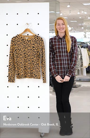 Leopard Cashmere Crewneck Sweater, sales video thumbnail