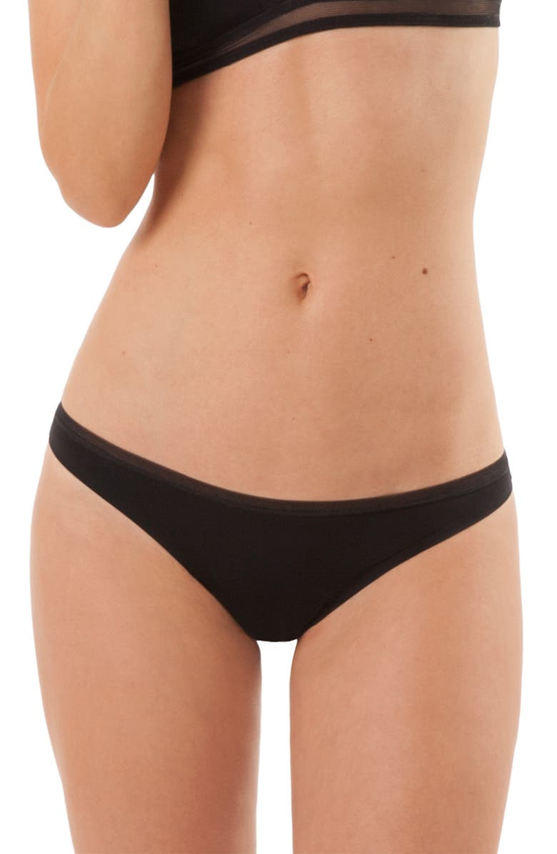 LIVELY The No-Show Thong, Main, color, JET BLACK
