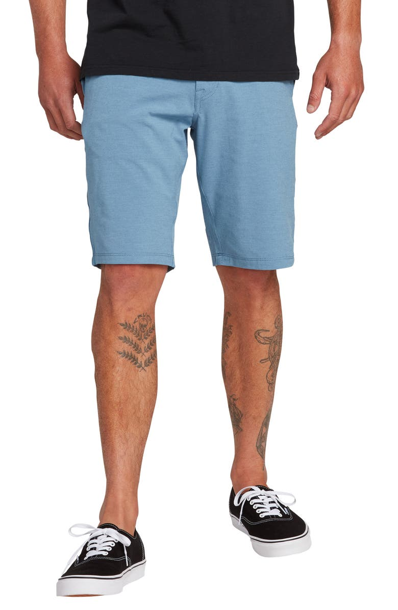 VOLCOM Hybrid Shorts, Main, color, BLUE RINSE