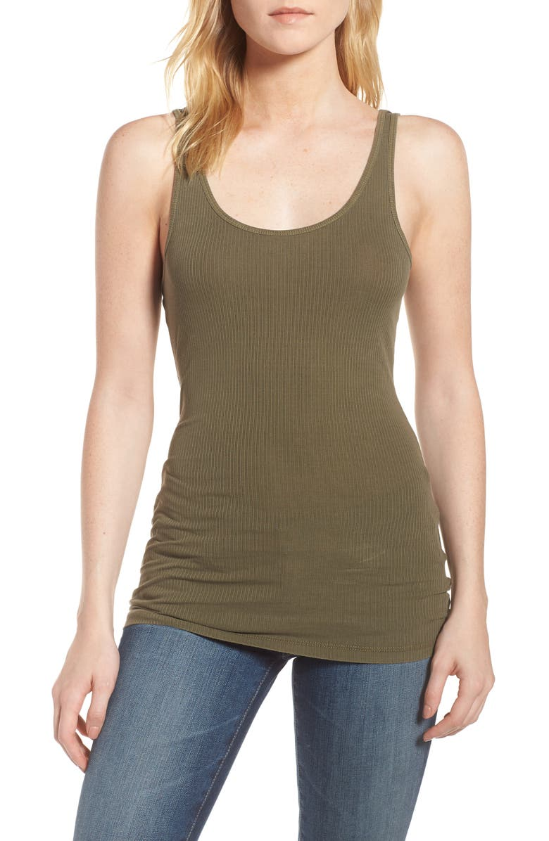 JAMES PERSE 'Daily' Rib Tank, Main, color, 251
