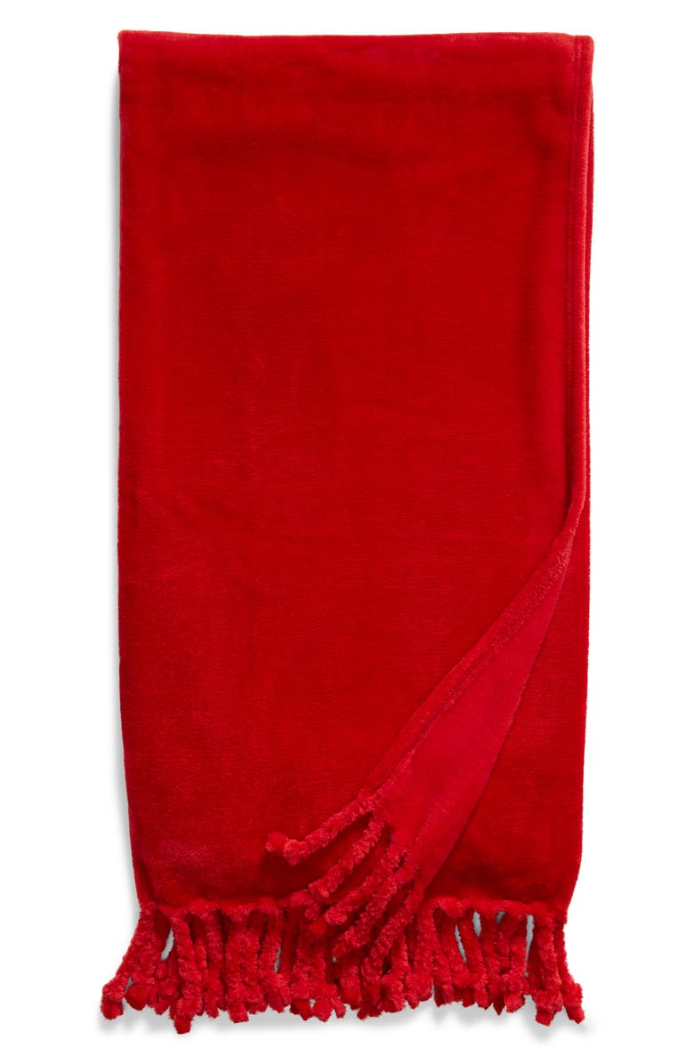 NORDSTROM Bliss Plush Throw, Main, color, RED CHILI
