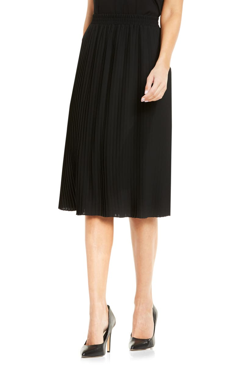 VINCE CAMUTO Pleat Midi Skirt, Main, color, 006