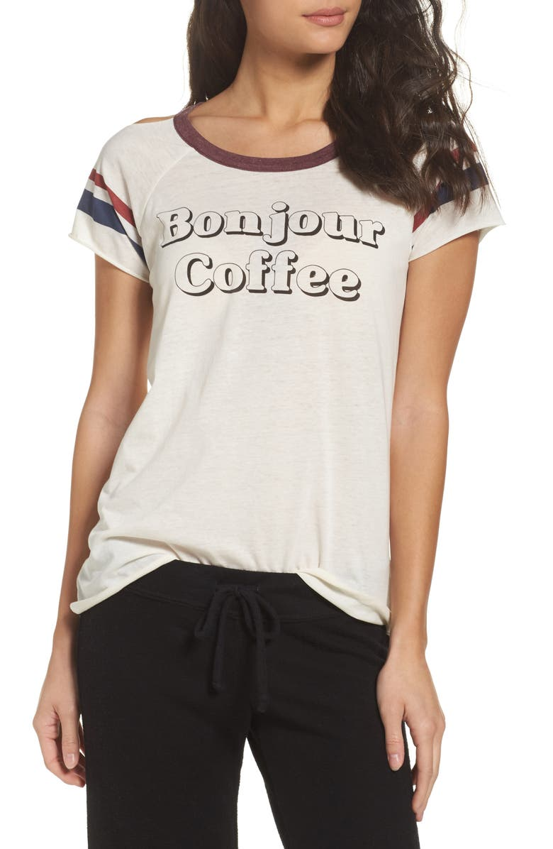 CHASER Bonjour Coffee Lounge Tee, Main, color, 103