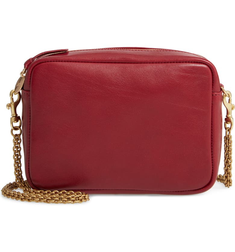 CLARE V. Leather Crossbody Bag, Main, color, 600
