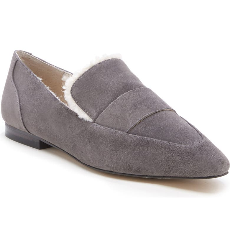 SOLE SOCIETY Bettina Loafer, Main, color, GREY STONE SUEDE