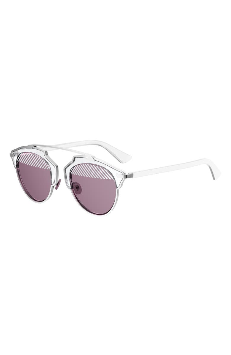 DIOR So Real 48mm Brow Bar Sunglasses, Main, color, 048