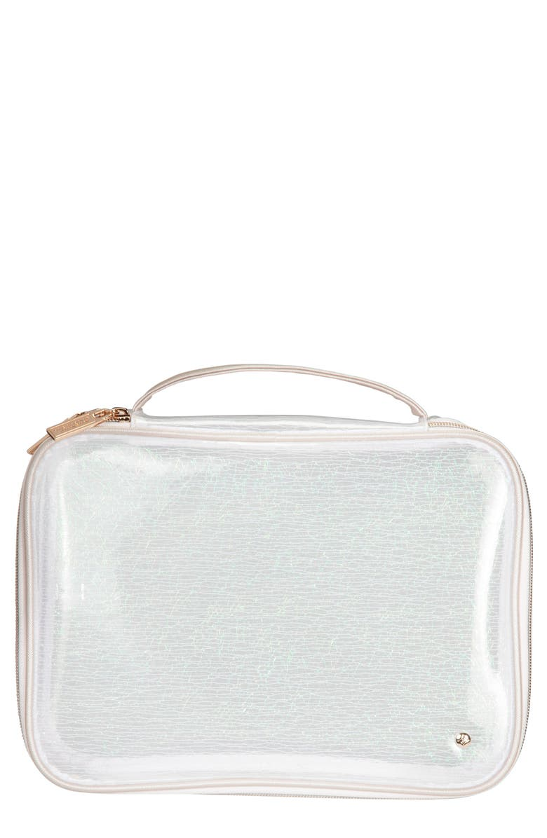 STEPHANIE JOHNSON Claire Miami Dragonfly Jumbo Makeup Case, Main, color, NO COLOR