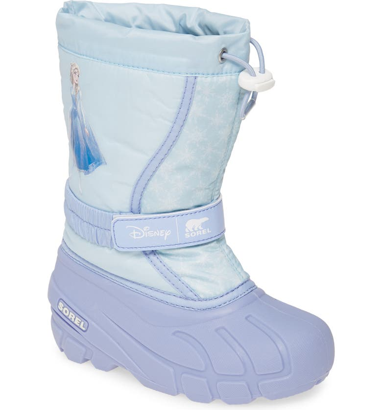 SOREL x Disney Flurry Weather Resistant Snow Boot, Main, color, FROSTED PURPLE