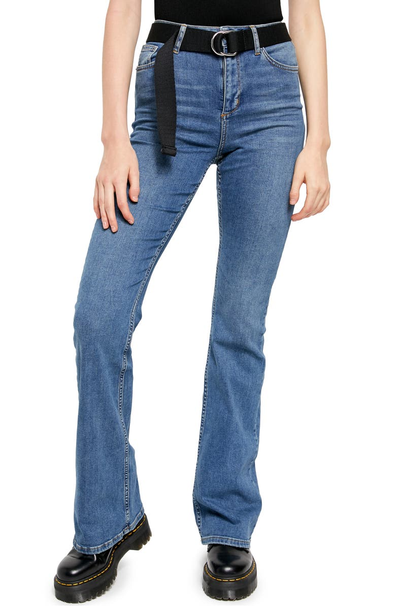 BDG URBAN OUTFITTERS Super Flare Jeans, Main, color, LIGHT DENIM/ LT