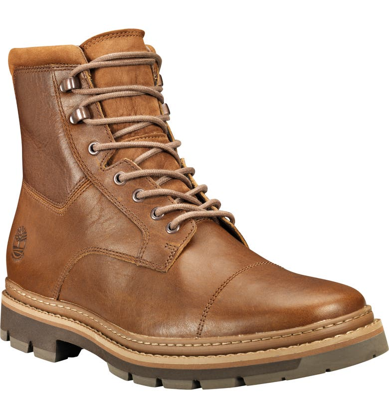 TIMBERLAND Port Union Waterproof Boot, Main, color, MD BROWN FULL GRAIN