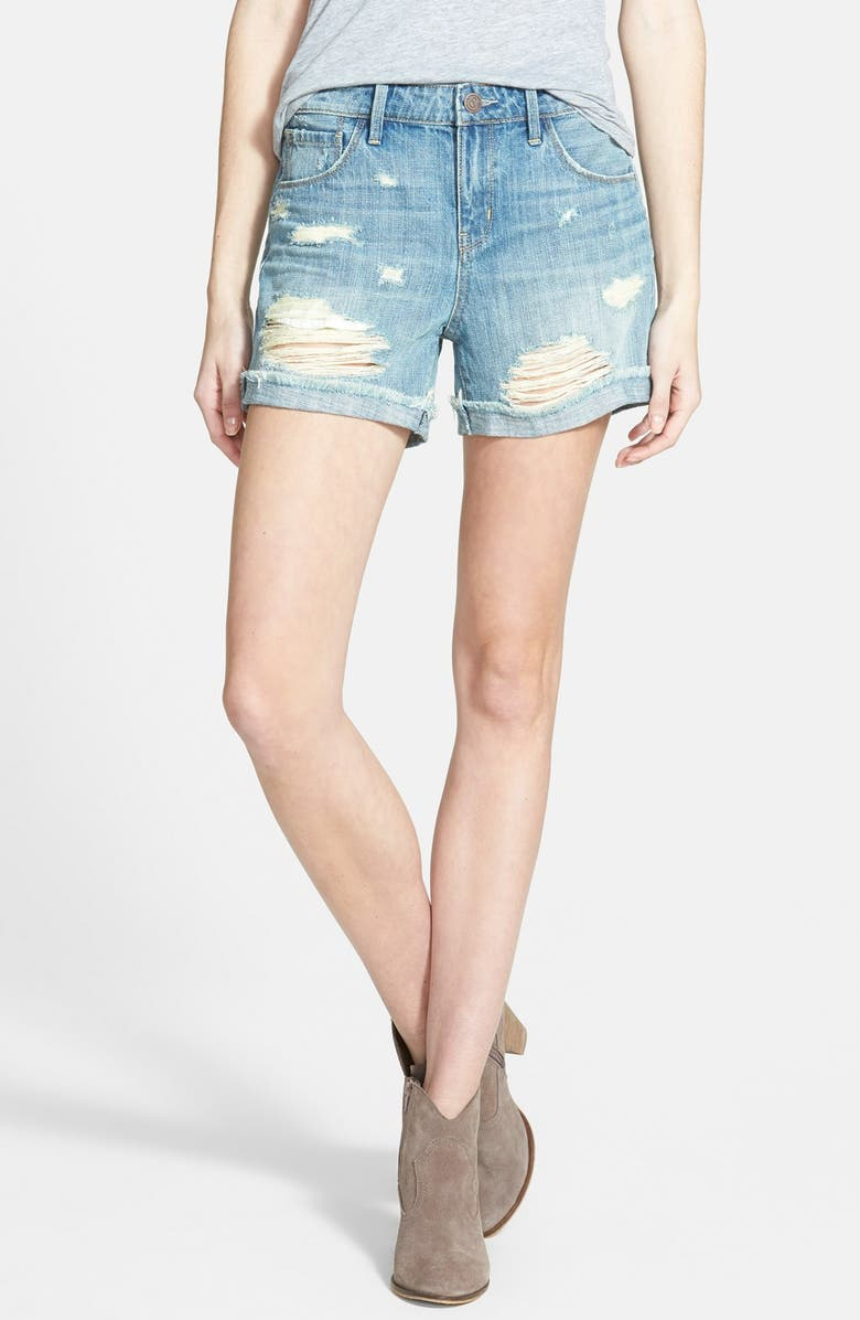 TREASURE & BOND Treasure&Bond Cuffed Boyfriend Shorts, Main, color, 400
