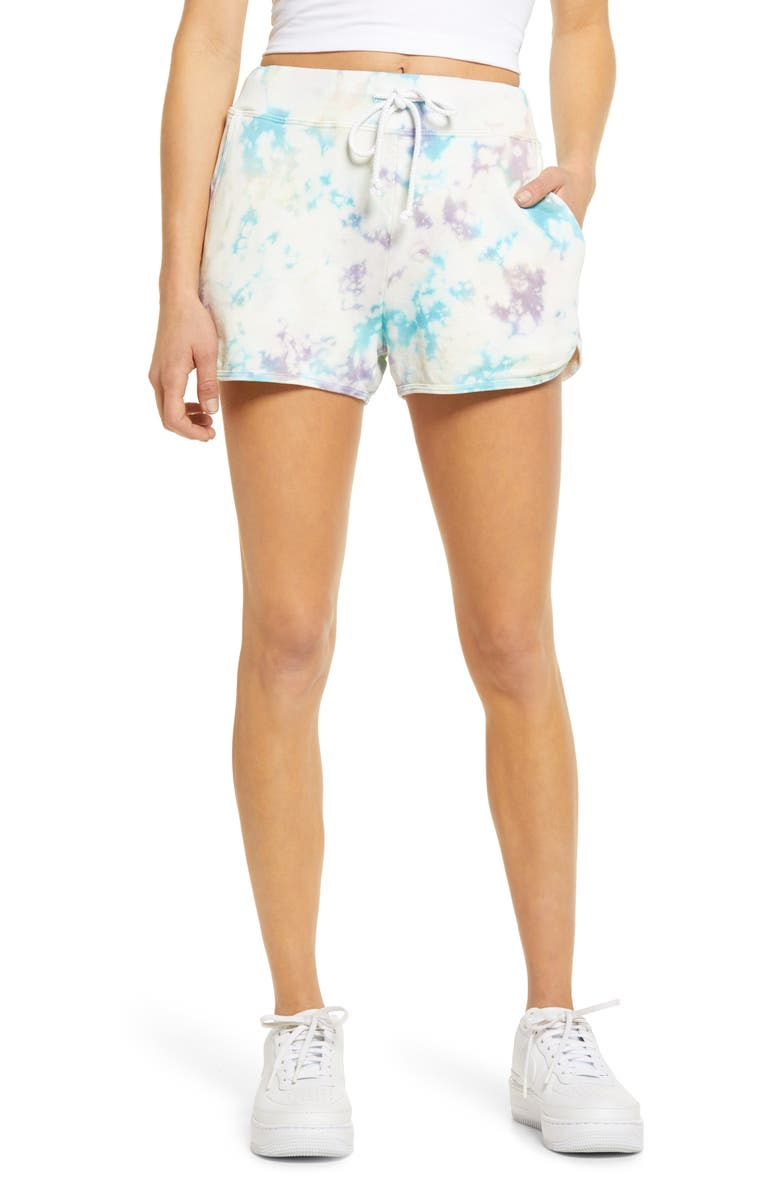 DAYDREAMER Tie Dye Shorts, Main, color, 650