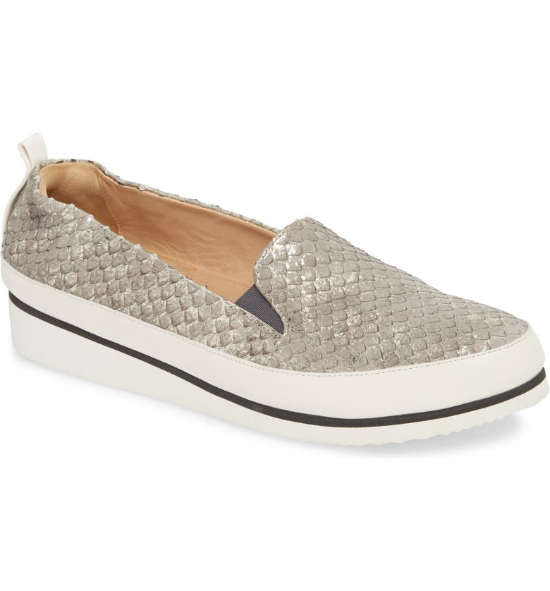 RON WHITE Nell Slip-On Sneaker, Main, color, PEWTER LEATHER
