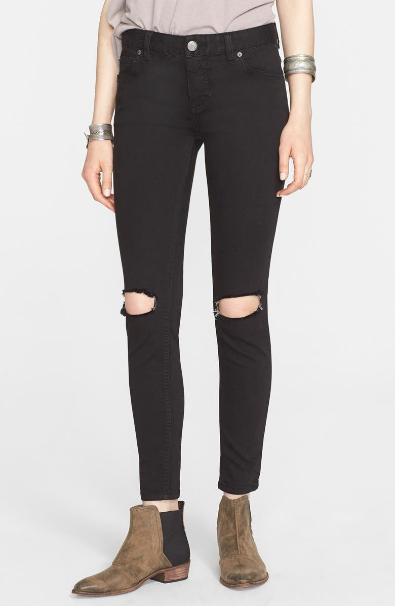 FREE PEOPLE Ripped Jeans, Main, color, 001