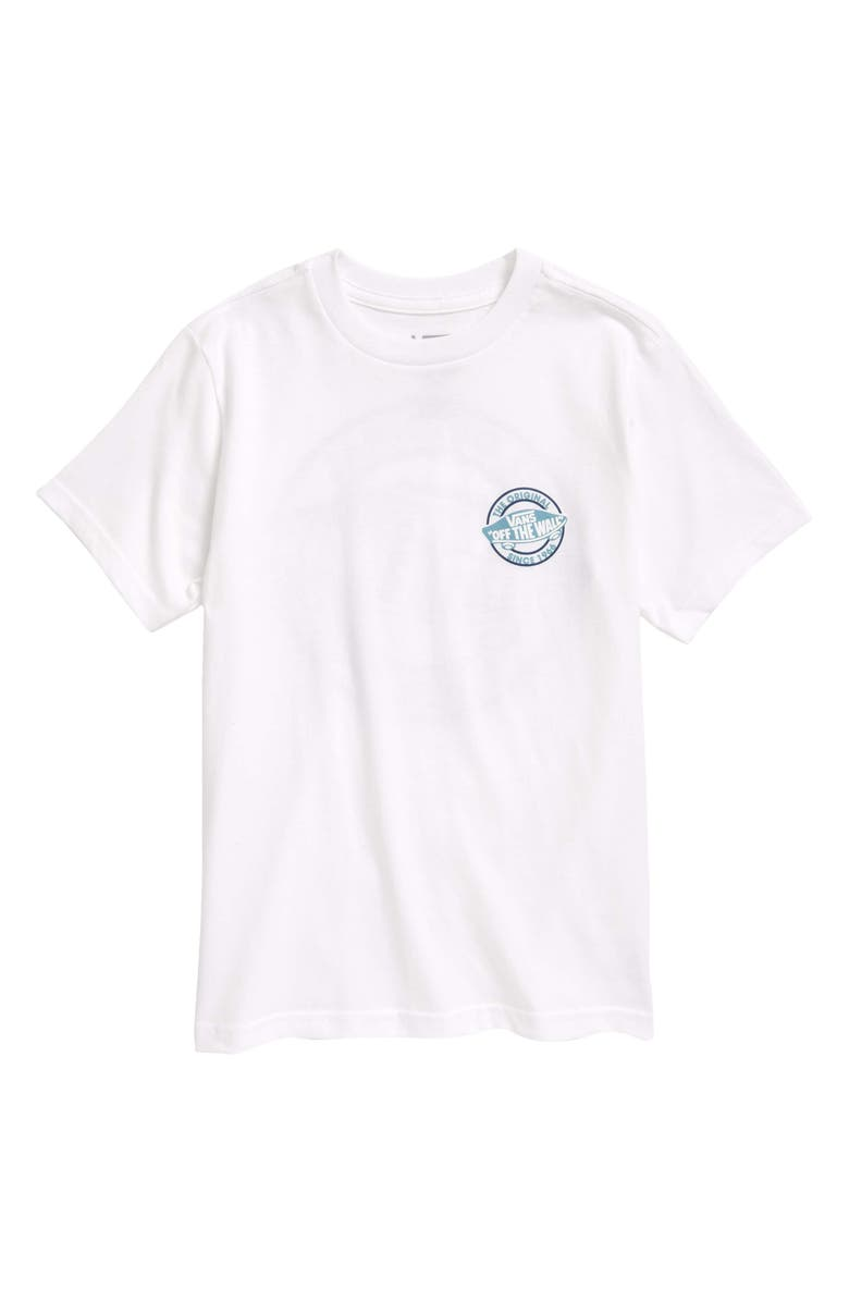 VANS Kids' Authentic Off the Wall Graphic Tee, Main, color, White