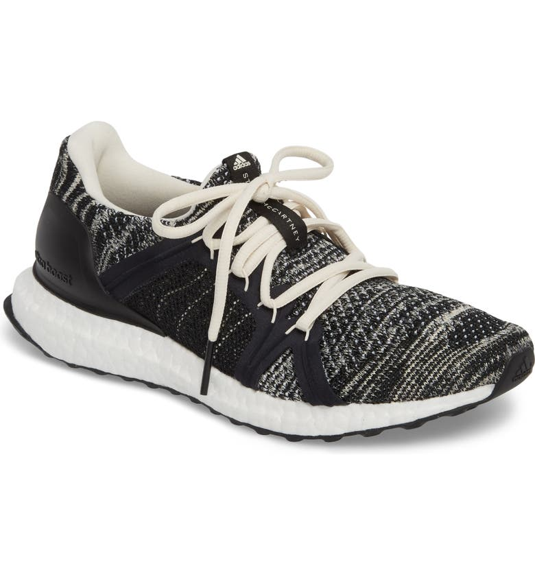 ADIDAS by Stella McCartney UltraBoost x Parley Running Shoe, Main, color, 001