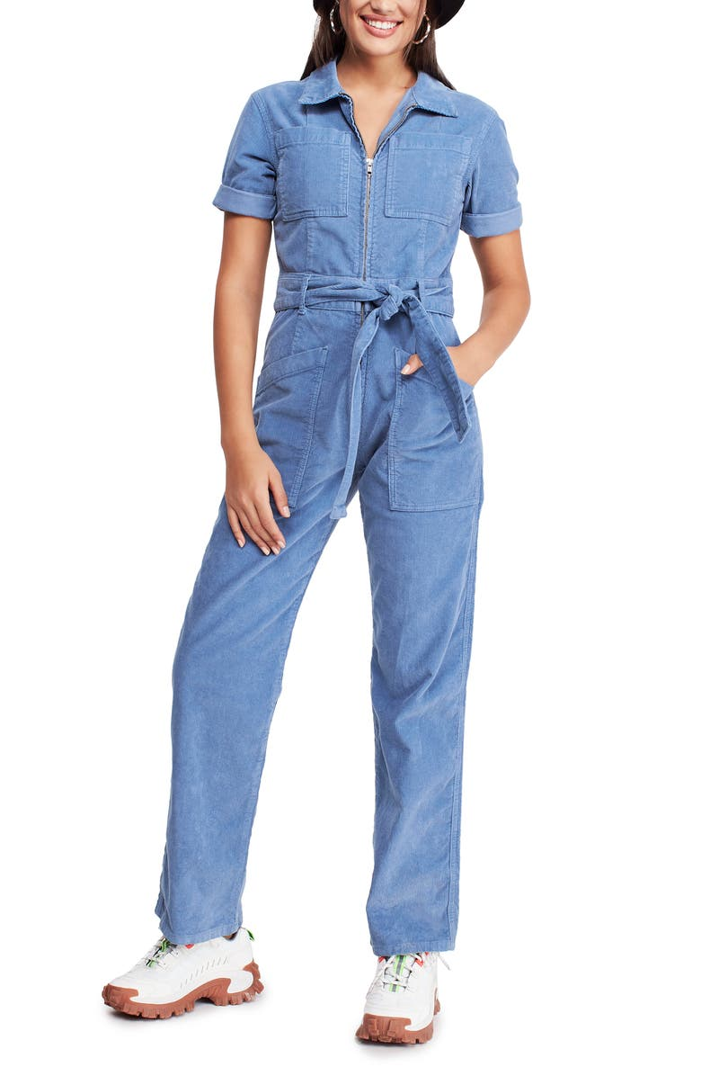 BDG URBAN OUTFITTERS Belted Corduroy Jumpsuit, Main, color, 400