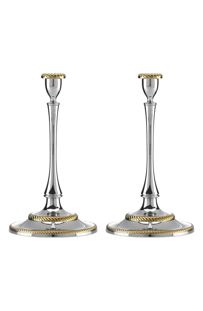 REED & BARTON Roseland Set of 2 Candlesticks, Main, color, 040