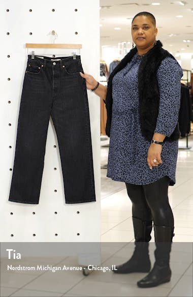 Ribcage High Waist Ankle Straight Leg Jeans, sales video thumbnail