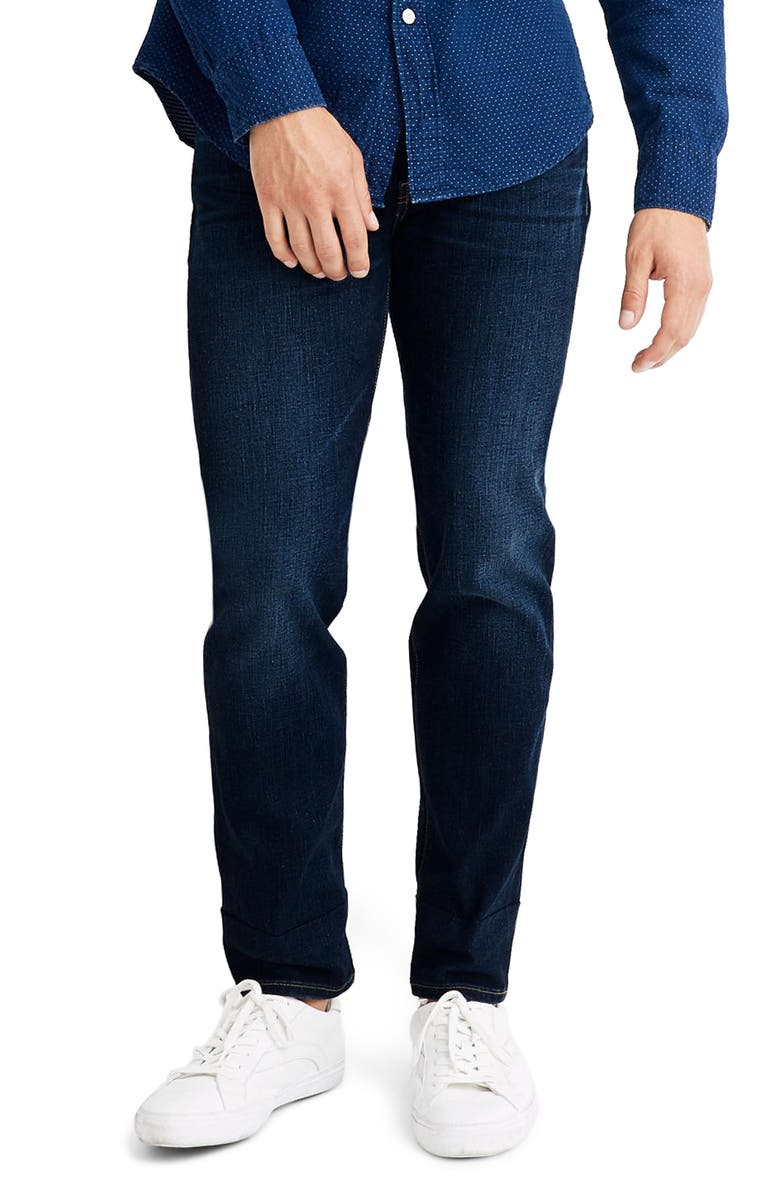 MADEWELL Athletic Slim Fit Jeans, Main, color, 400