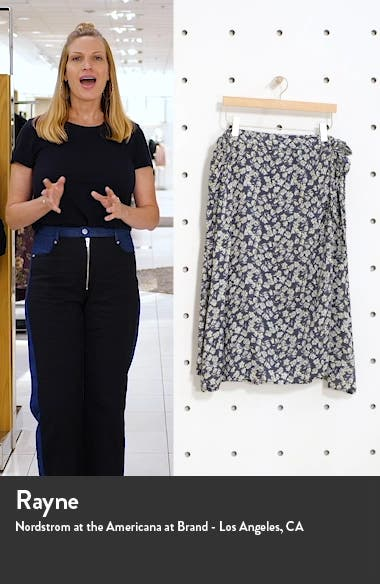 Faux Wrap Midi Skirt, sales video thumbnail