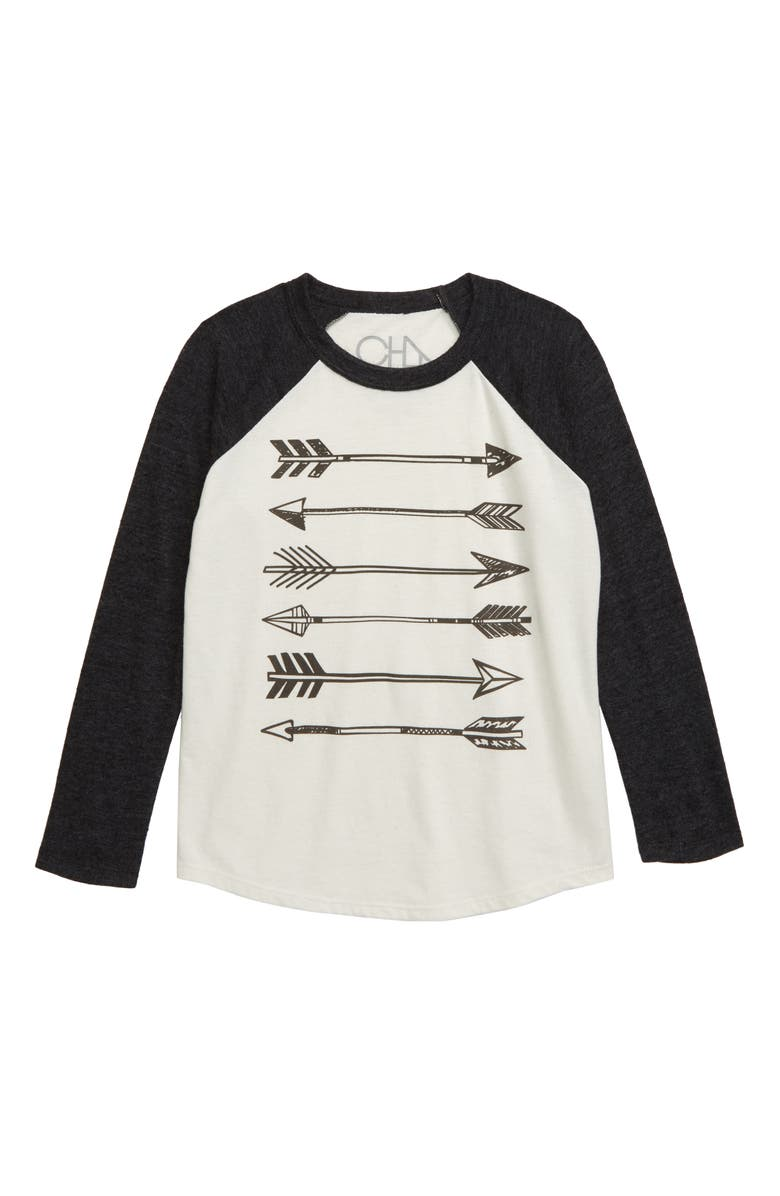 CHASER Arrows Blocked Raglan Shirt, Main, color, 020