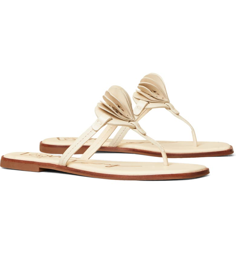 TORY BURCH Heart Flip Flop, Main, color, NEW CREAM