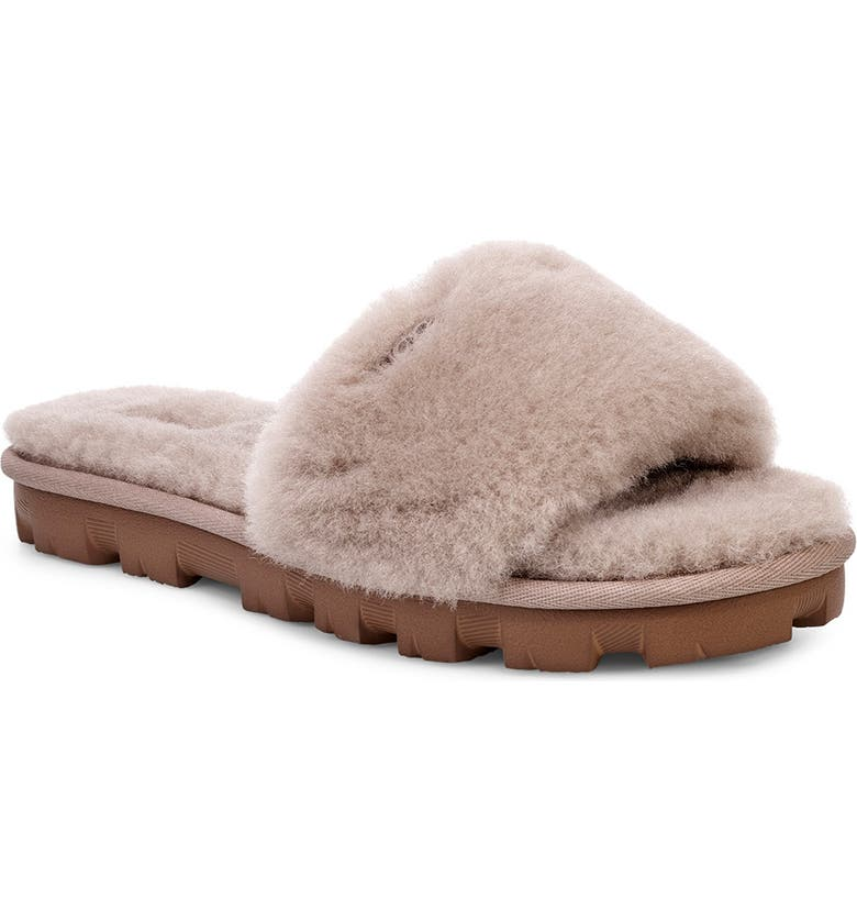 UGG<SUP>®</SUP> Cozette Genuine Shearling Slipper, Main, color, OYSTER